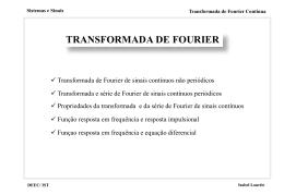 Transformada de Fourier Contínua