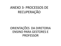 processos de recuperação - diretoria de ensino região mirante do
