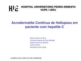 HOSPIAL UNIVERSITÁRIO PEDRO ERNESTO HUPE/UERJ