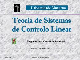 Engenharia e Gestão da Produção TSCL