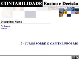CAP 17 - Juros Capital Próprio