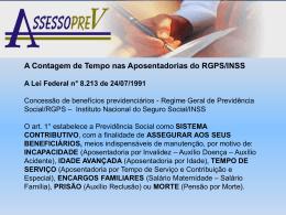 CURSO : APOSENTADORIA NO REGIME PRÓPRIO DE