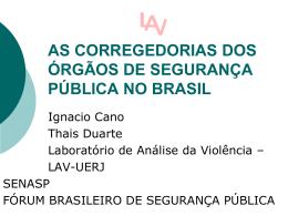 Slide 1 - Fórum Brasileiro de Segurança Pública