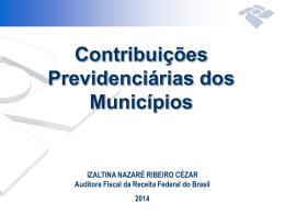 Contribuições Previdenciárias dos Municípios