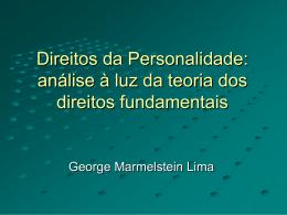 Direitos da Personalidade: análise à luz da teoria dos direitos