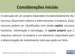 Considerações iniciais - Carlos Pinheiro