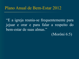 Plano de Bem-Estar 2012 24 Nov 11