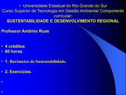 I. Barômetro de Sustentabilidade. 1. Introdução
