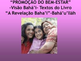 """""""PROMOÇÃO DO BEM-ESTAR """""""