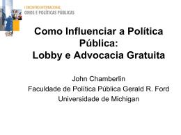 Lobby e Advocacia Gratuita