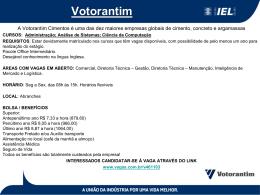 Vagas - Votorantim - 08/04/2013
