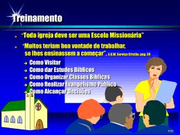 11_Fazendo Discípulos para Testemunhar