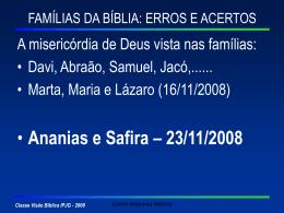 A Família de Ananias e Safira