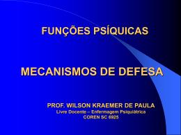 Mecanismos de Defesa - Wilson Kraemer de Paula