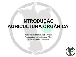 INTRODUÇÃO AGRICULTURA ORGÂNICA