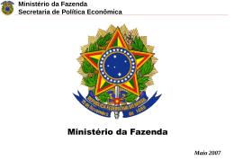 Ministério da Fazenda Secretaria de Política Econômica Spread