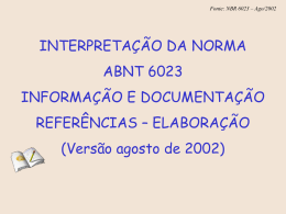 Fonte: NBR 6023 – Ago/2002