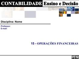 CAP 15 - Operações Financeiras