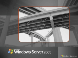 Windows 2003 Technical Overview