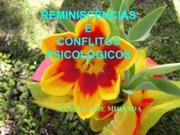 REMINISCÊNCIAS E CONFLITOS PSICOLÓGICOS MANOEL P. DE