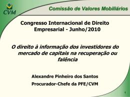 O direito à informação dos investidores do mercado de capitais na