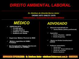 DIREITO AMBIENTAL LABORAL - barros consultoria e assessoria