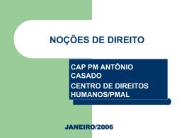 palestra de direito - 6º pelotão cfp bm 2006/2007