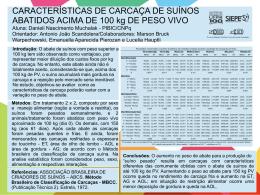 CARACTERÍSTICAS DE CARCAÇA DE SUÍNOS