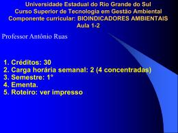 Bioindicadores - Professor Antônio Ruas