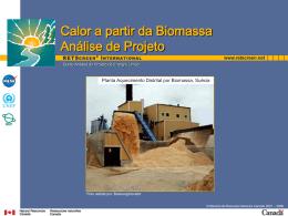 Calor a partir da Biomassa Análise de Projeto