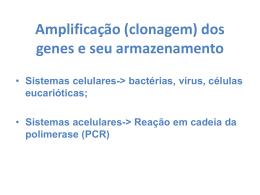 Bibliotecas Genomicas e cDNA.