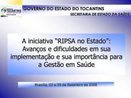 RIPSA TO - Secretaria Estadual de Saúde