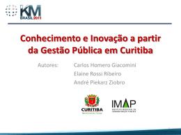 Conhecimento e Inovação a partir da Gestão Pública em