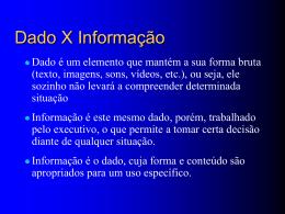 3. Dados X Informação