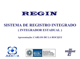 SISTEMA DE REGISTRO INTEGRADO - Fecomércio-RJ