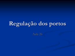 DRE_-_Aula_26_(portos) - Acadêmico de Direito da FGV