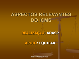 aspectos relevantes do icms i