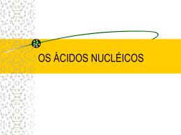 OS ÁCIDOS NUCLÉICOS