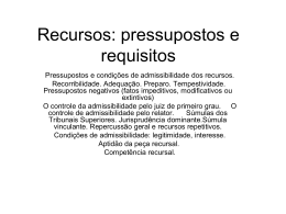 Pressupostos e requisitos recursais