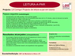 EB1 nº2 de Montemor-o-Novo - Plano Nacional de Leitura