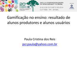 Paula Cristina dos Reis - UP ONLINE