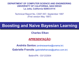 Boosting and Naive Bayesian Learning1