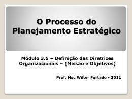 Processo do PE - Definição das Diretrizes Organizacionais