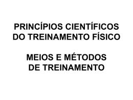 princípios científicos do treinamento físico