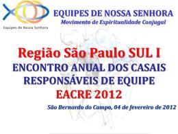 apresentação - Região SP Sul 1