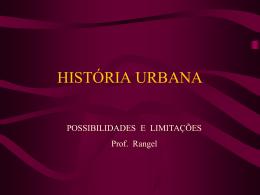 HISTÓRIA URBANA