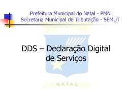 Prefeitura Municipal do Natal - PMN Secretaria Municipal de