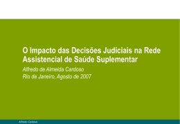 Apresentação Dr. Alfredo Cardoso