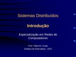 Sistemas Distribuídos - Faculdade Gama e Souza