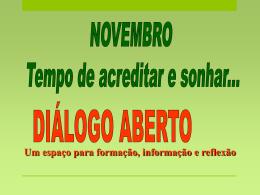 novembro 2012 TEMPO DE ACREDITAR E SONHAR.